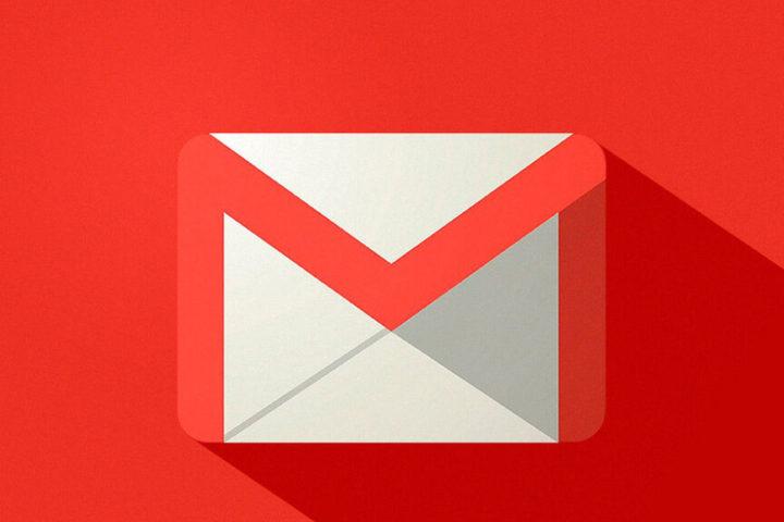 Logo Gmail con fondo rojo