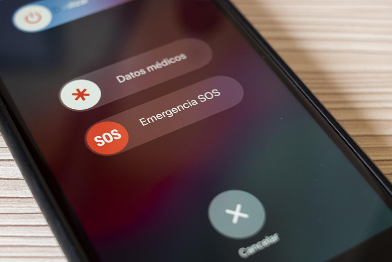 Opciones de emergencia en smartphone Android