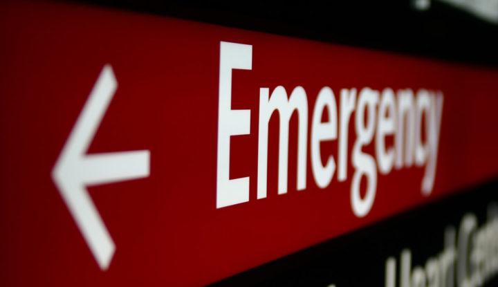 Logo de un cartel de emergencia
