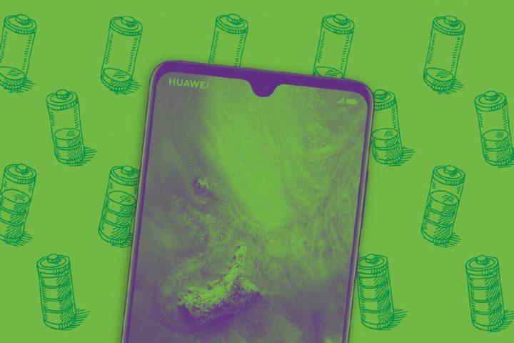 Smartphone con fondo de batería