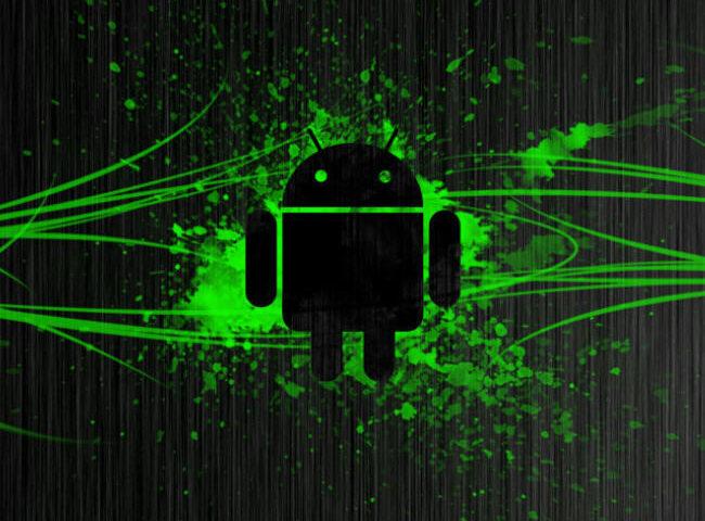 Logotipo Android con fondo