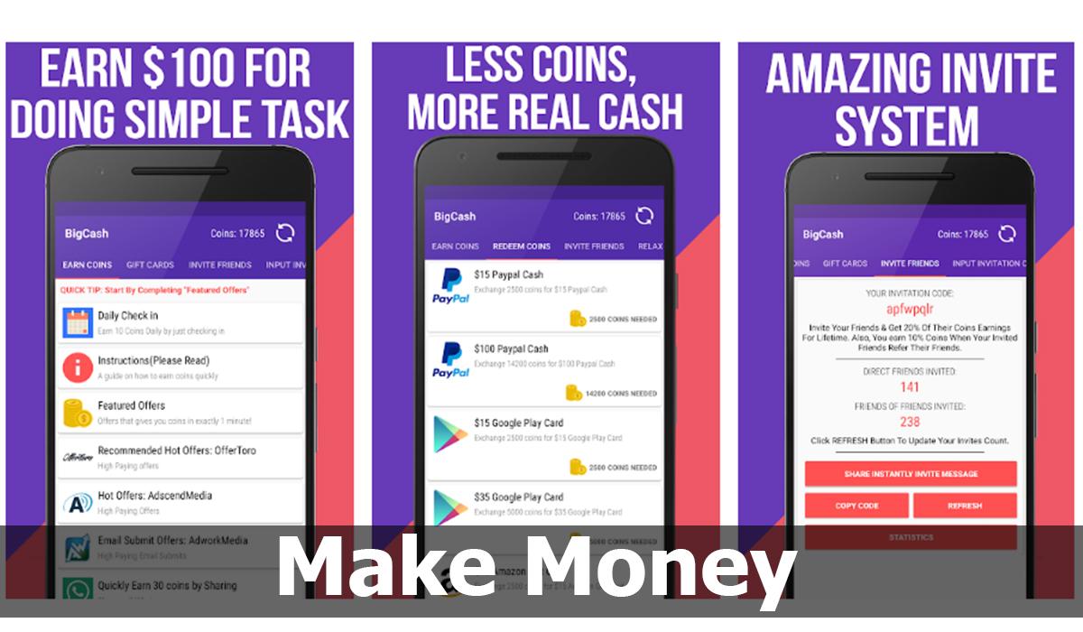Make Money: recompensas en efectivo y tarjetas de regalo