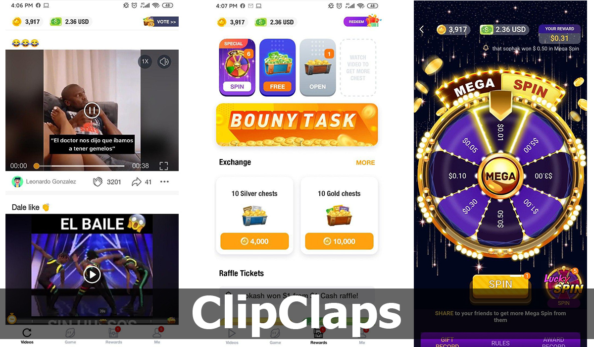 ClipClaps: consigue recompensas por las risas